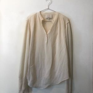 Phillip Lim Cream  blouse with knit sleeves
